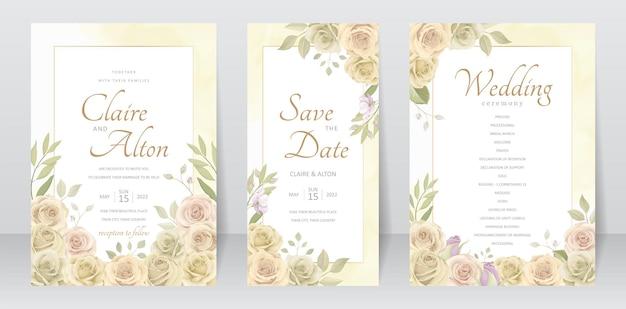 Schöne rosen einladungskartenvorlage