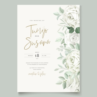 Schöne roseneinladungskartenschablone