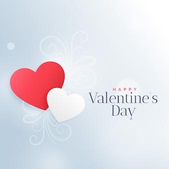 Schöne rote und weiße herzen zum valentinstag