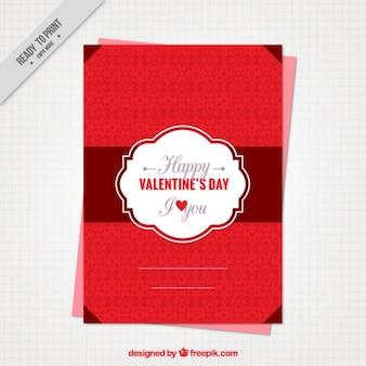 Schöne rote valentinstag-karte