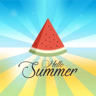 Schöne ruhige sommerferienkarte, schön, erstaunlich, küste, strand, karte