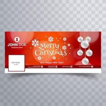 Schöne schneeflocke der frohen weihnachten mit facebook-fahnenschablone
