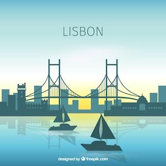 Schöne skyline von lissabon