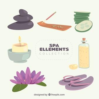 Schöne spa-elementsammlung