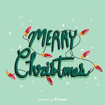 Schöne tapete mit beschriftung der frohen weihnachten