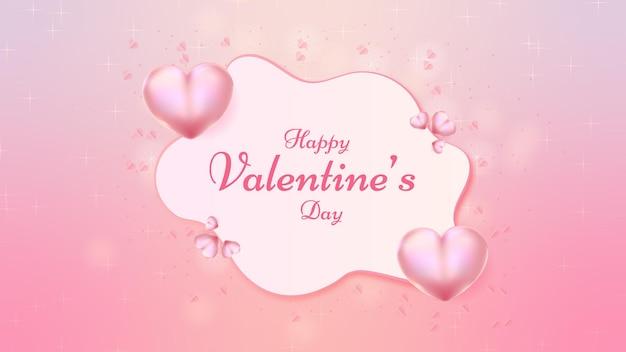 Schöne tapete zum valentinstag im papierschnittstil