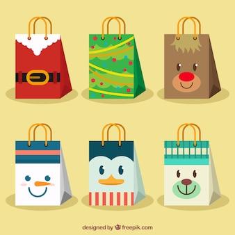 Schöne taschen mit weihnachts zeichen