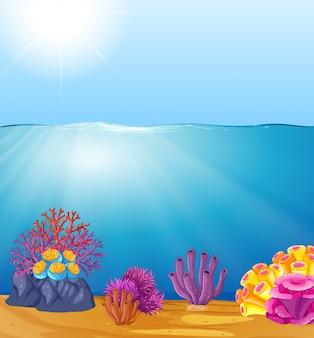 Schöne tiefwasserschablone
