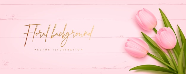 Schöne tulpen auf rosa hölzernem hintergrund