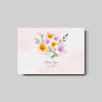 Schöne und elegante blumenhochzeitseinladungskarte