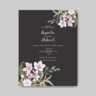Schöne und elegante hochzeitseinladungskarte