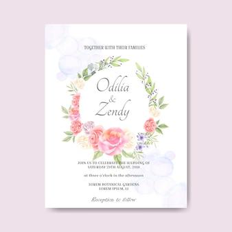 Schöne und elegante hochzeitskarteneinladung