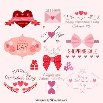 Schöne valentinsgrußelemente pack