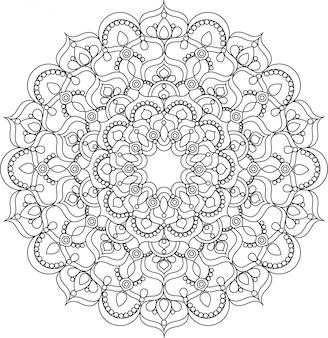 Schöne verzierte vintage vektor mandala illustration