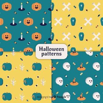 Schöne vintage halloween musterkollektion