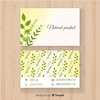 Schöne visitenkarte mit naturkonzept