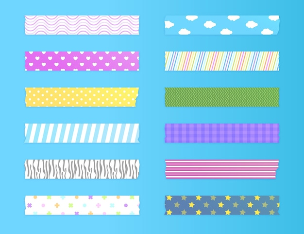 Schöne washi tapes pack