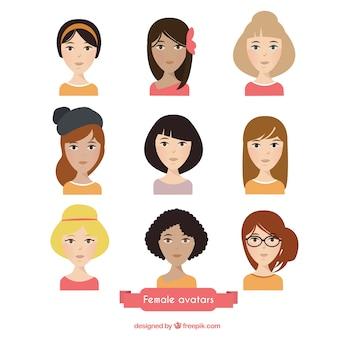 Schöne weibliche avatare