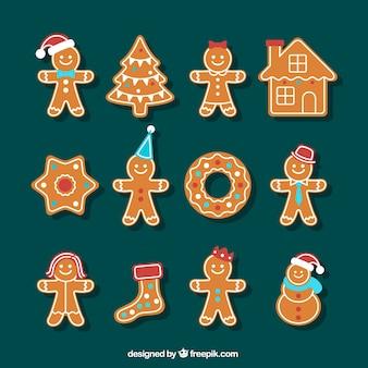 Schöne weihnachten lebkuchen sammlung