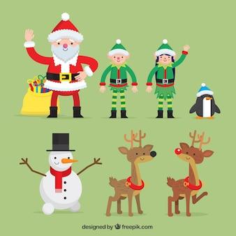 Schöne weihnachten zeichen in flaches design