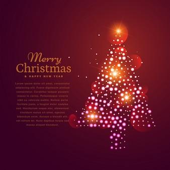 Schöne weihnachtsbaum-design mit mehreren citcles gemacht