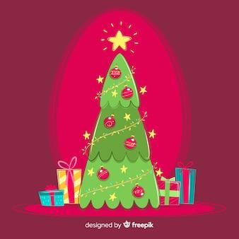 Schöne weihnachtsbaumabbildung