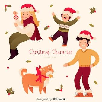 Schöne weihnachtscharaktersammlung