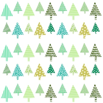 Schöne weihnachtsdeko-baummuster