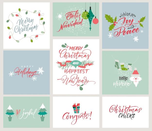 Schöne weihnachtskarten-sammlung