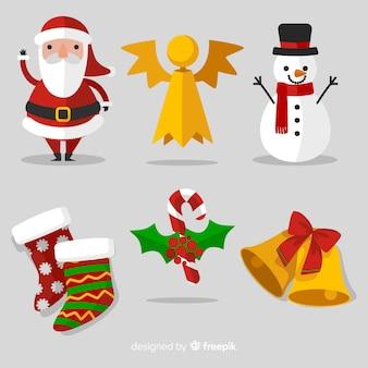 Schöne weihnachtskollektion mit flacher bauform