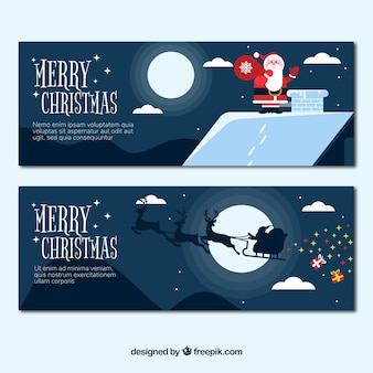 Schöne weihnachtsmann-banner