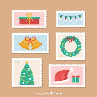 Schöne weihnachtsmarke collectio