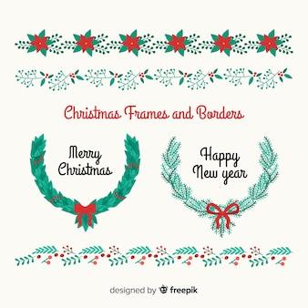 Schöne weihnachtsrahmen und grenzen