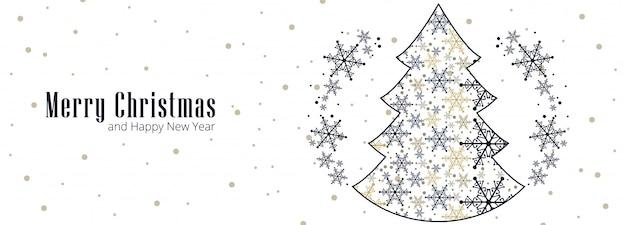 Schöne weihnachtsschneeflockenkarten-feierfahne
