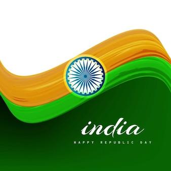 Schöne wellenmuster indischen flagge