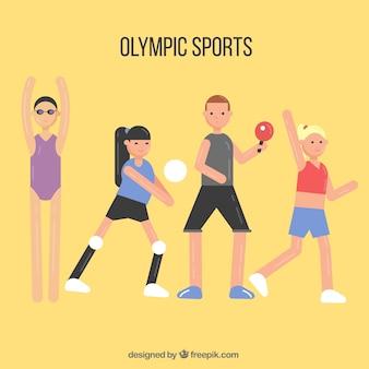 Schöne wohnung zeichen der olympischen spiele