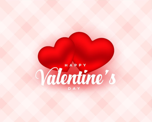 Schöne zwei liebesherzen für valentinstag