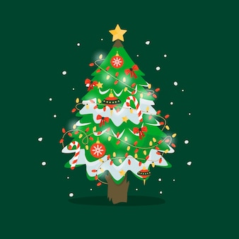 Schöner 2d weihnachtsbaum