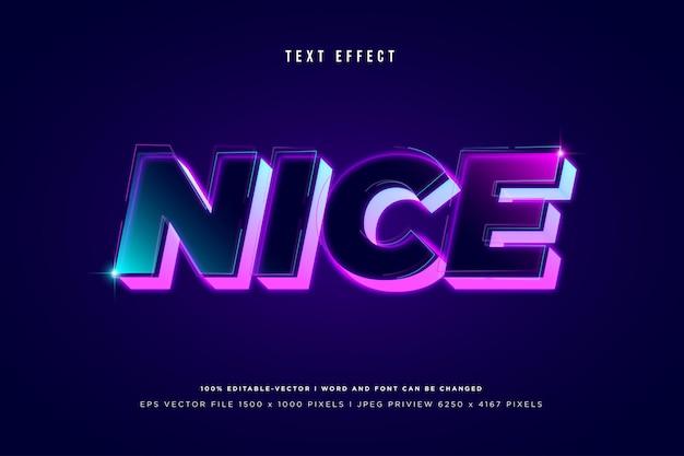 Schöner 3d-texteffekt auf dunkelviolettem hintergrund