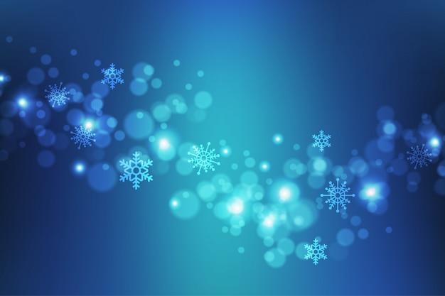 Schöner abstrakter winterhintergrund