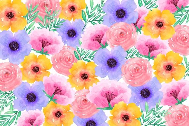 Schöner aquarellblumenhintergrund