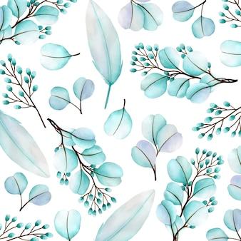 Schöner aquarellblumenmusterhintergrund