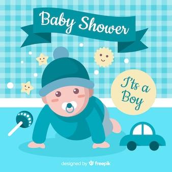 Schöner babypartyhintergrund