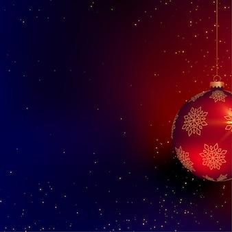 Schöner ball des weihnachten 3d mit textraum