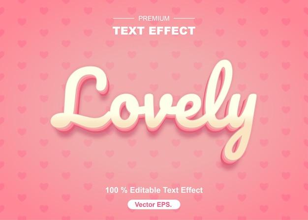 Schöner bearbeitbarer texteffekt zum valentinstag