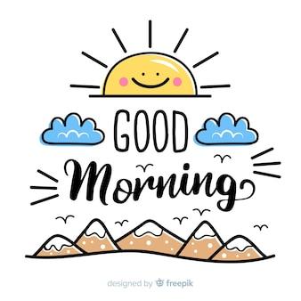 Schöner beschriftungshintergrund des gutenmorgens
