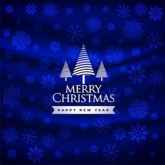 Schöner blauer festivalgruß der frohen weihnachten