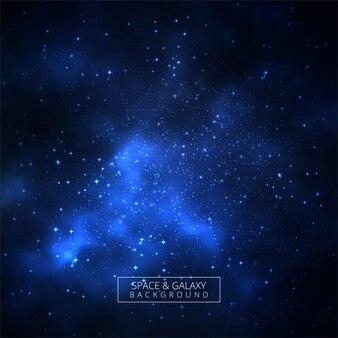 Schöner blauer galaxiehintergrund mit universum