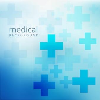 Schöner blauer medizinischer hintergrundkonzept-plakatvektor