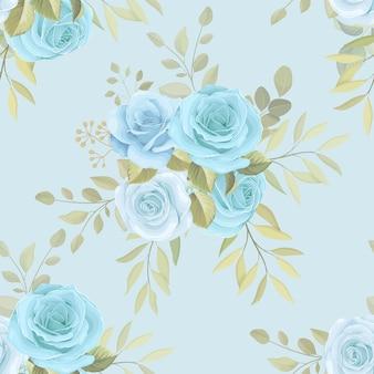 Schöner blauer rosenhintergrund